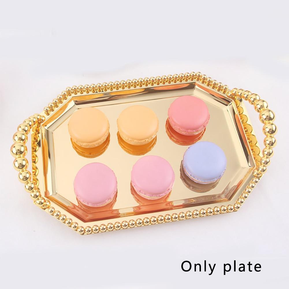 Metal no tóxico pastel plato rectangular conveniente boda reutilizable postre fiesta multipropósito hogar fruta bandeja soporte suave