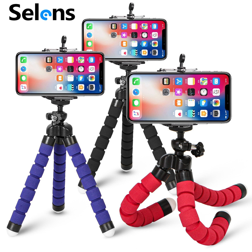 Tripod for Phone Flexible Sponge Octopus Mini Tripod for IPhone Mini Camera Tripod Phone Holder Clip Stand