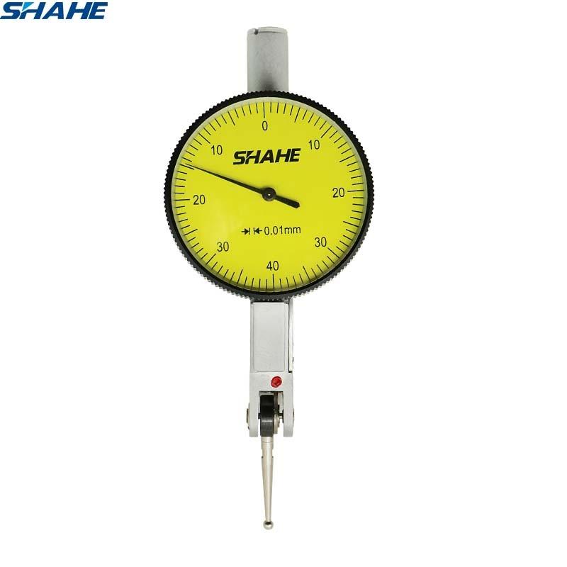 Shahe 0-8 мм 0,01 мм индикатор для проверки циферблата инструмент для измерения индикатора циферблата измерительный инструмент