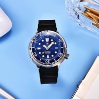 pagrne design fashion mens mechanical watch luxury sapphire glass automatic watch 300m diving stainless steel watch for men