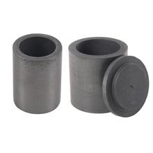 Coulée de creuset de fusion de Graphite de haute pureté de 2 pièces avec le couvercle, 40x40mm et 40x30mm
