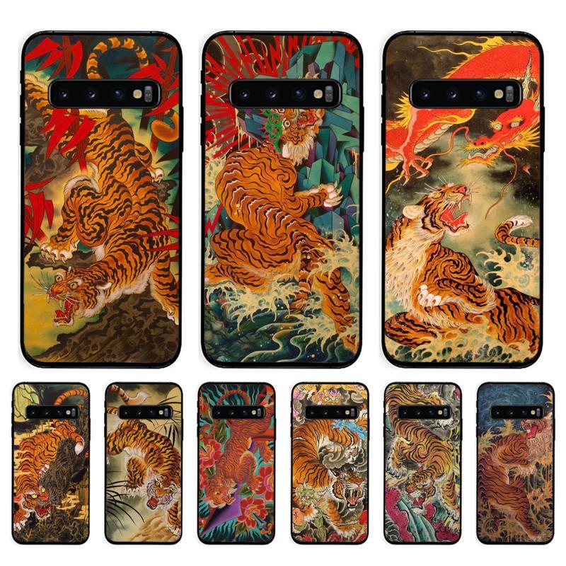 Tigre tatouage japonais vintage art client coque de téléphone pour Samsung Galaxy S10 Plus S10E S20 UlTRA S7 S8 S9 Plus S10lite S20 plus