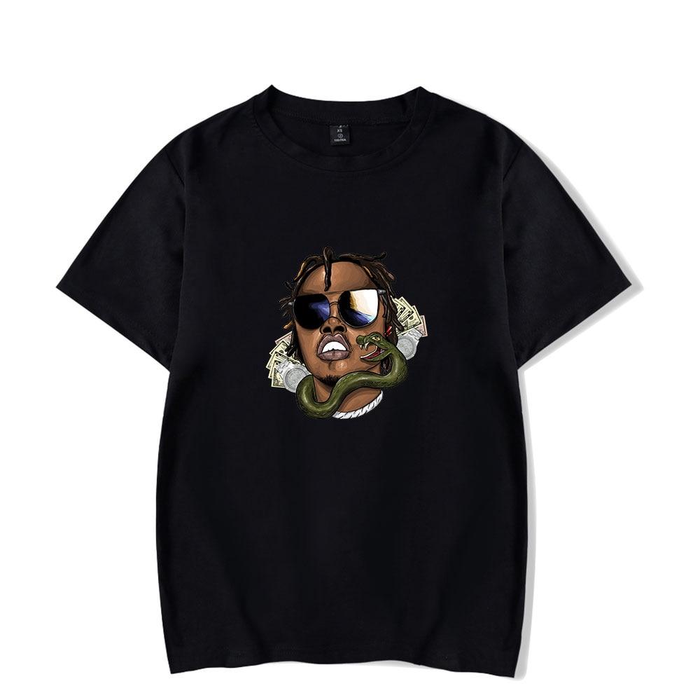 Camiseta Gunna 2020 Pop Rapper, Camiseta de cuello redondo para hombres, camisetas de manga corta para mujeres, Harajuku, ropa Casual Unisex Wunna