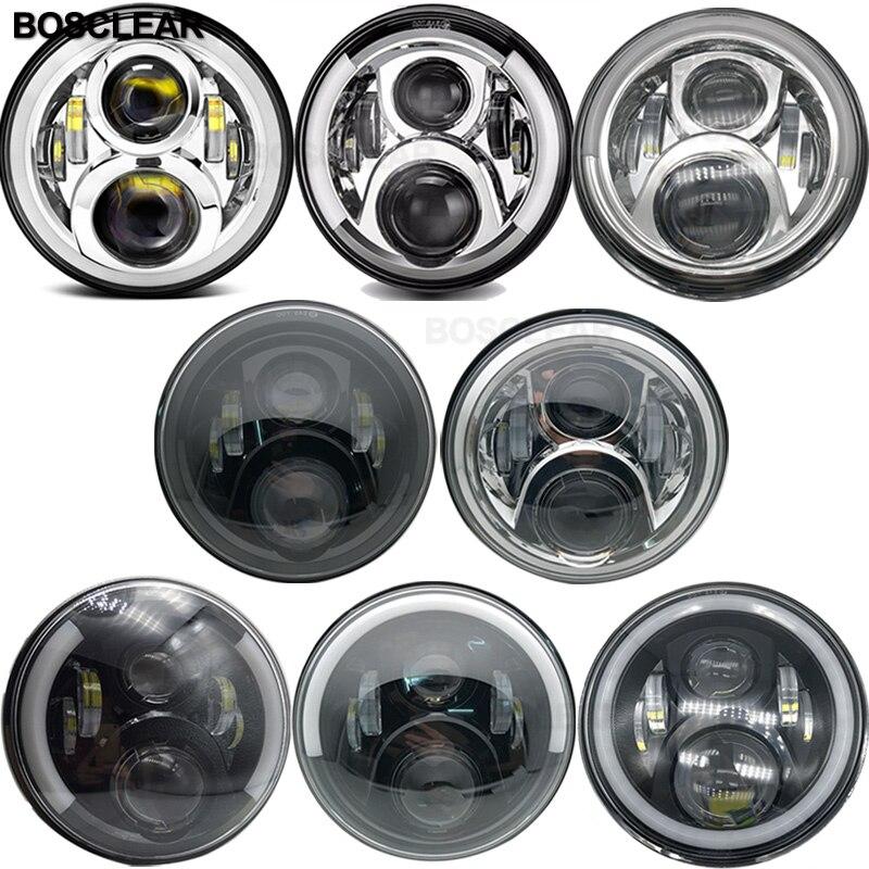 7inch LED Headlights Headlamp For rubicon Jeep Wrangler tj lj jk Willys Sahara uaz 4x4 Land Rover Defender 90 Hummer H1 H2