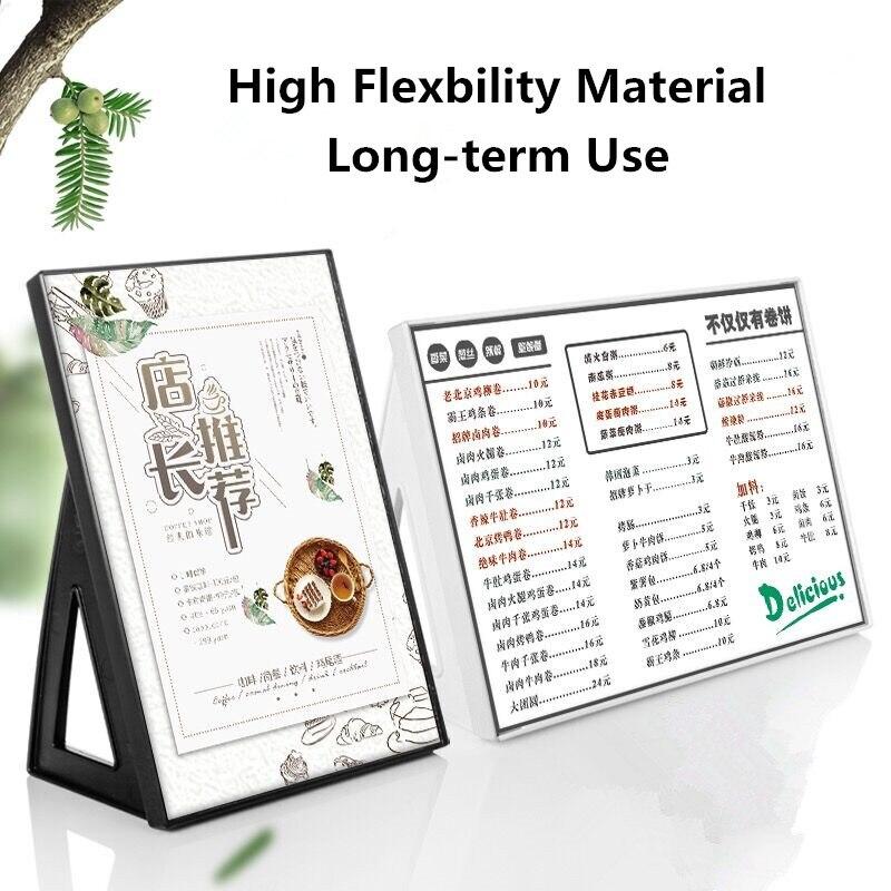 Настольный держатель для вывесок A3, подставка для меню, бумажная карточка для рекламы, идеально подходит для ресторанов, рекламных акций, фо...