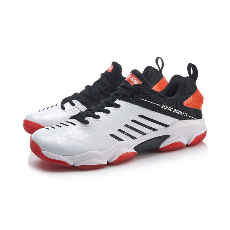 Мужская обувь для бадминтона Li-Ning SONIC BOOM 3,0, профессиональная обувь для бадминтона с углеродной подкладкой, спортивная обувь li ning AYZP009-3