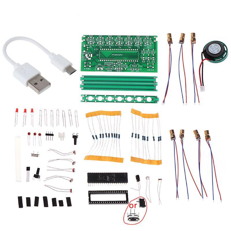 51 SCM арфа электронный органный фортепиано Музыкальная Коробка головоломка технология DIY Kit