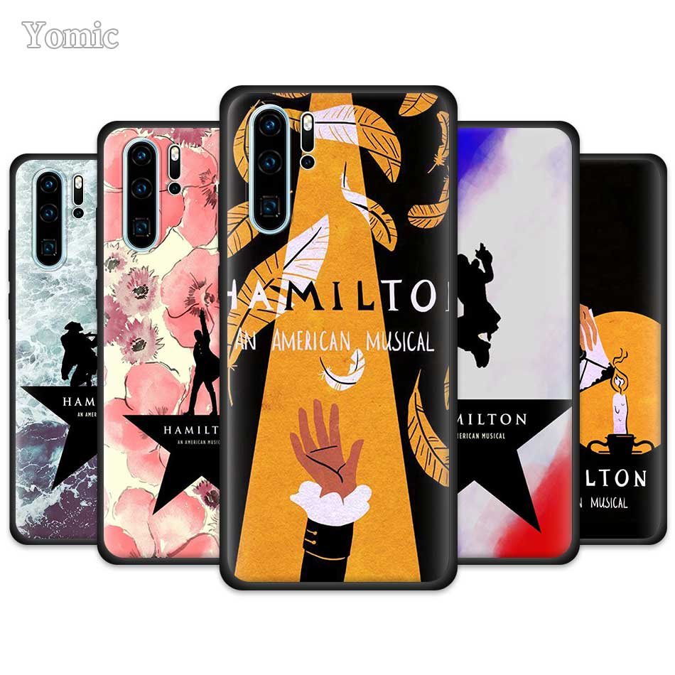 Hamilton Musical Texte Fall für Huawei P30 P40 Pro P20 Lite P Smart Plus 2019 Genießen Z 5G Y5p y6p Y8s TPU Schwarz Weichen Telefon Abdeckung
