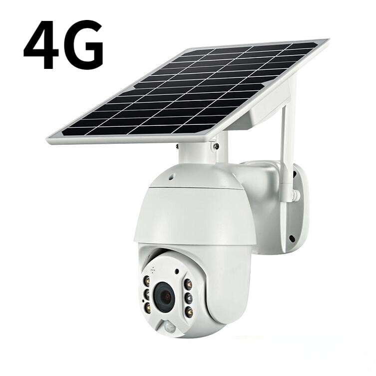 4G Security Outdoor Camera HD1080P Infrared Monitor 355 Degree Solar Powered Camera Remote Viewing Solar  camera Q3