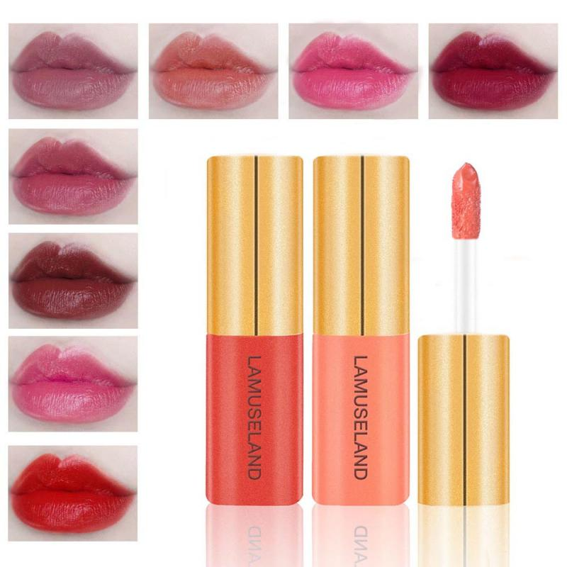 Brillo de labios mate, 12 colores, brillo de labios Sexy rojo, maquillaje hidratante, duradero, brillo labial, maquillaje cosmético