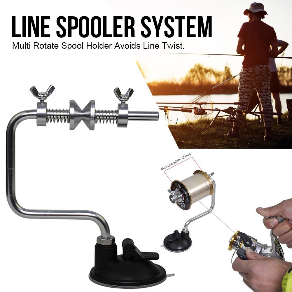 Cuerda de Pesca bobinadora carrete Sistema de bobinado aparejos Pesca ventosa carpa Marina accesorios de peces herramientas