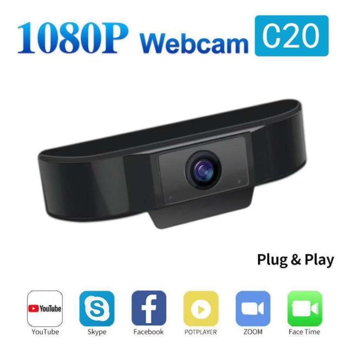 C20 1080P компьютерная сеть обучающая живая конференц-связь шумоподавление микрофон USB камера