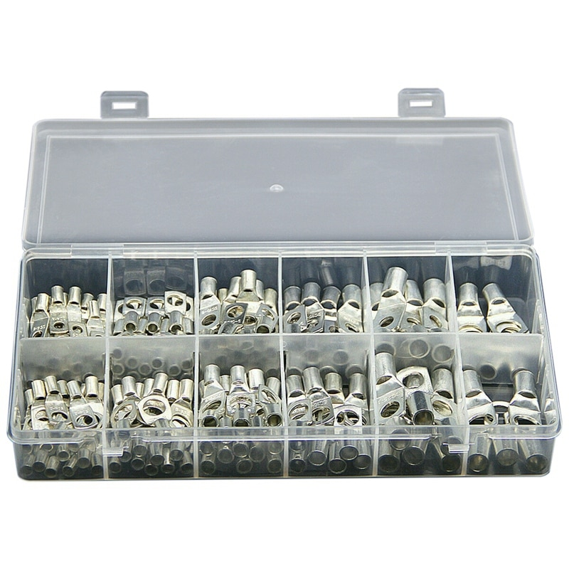 170X, Kit de anillos de Terminal de alambre de cobre, junta de soldadura de cable de batería estañada
