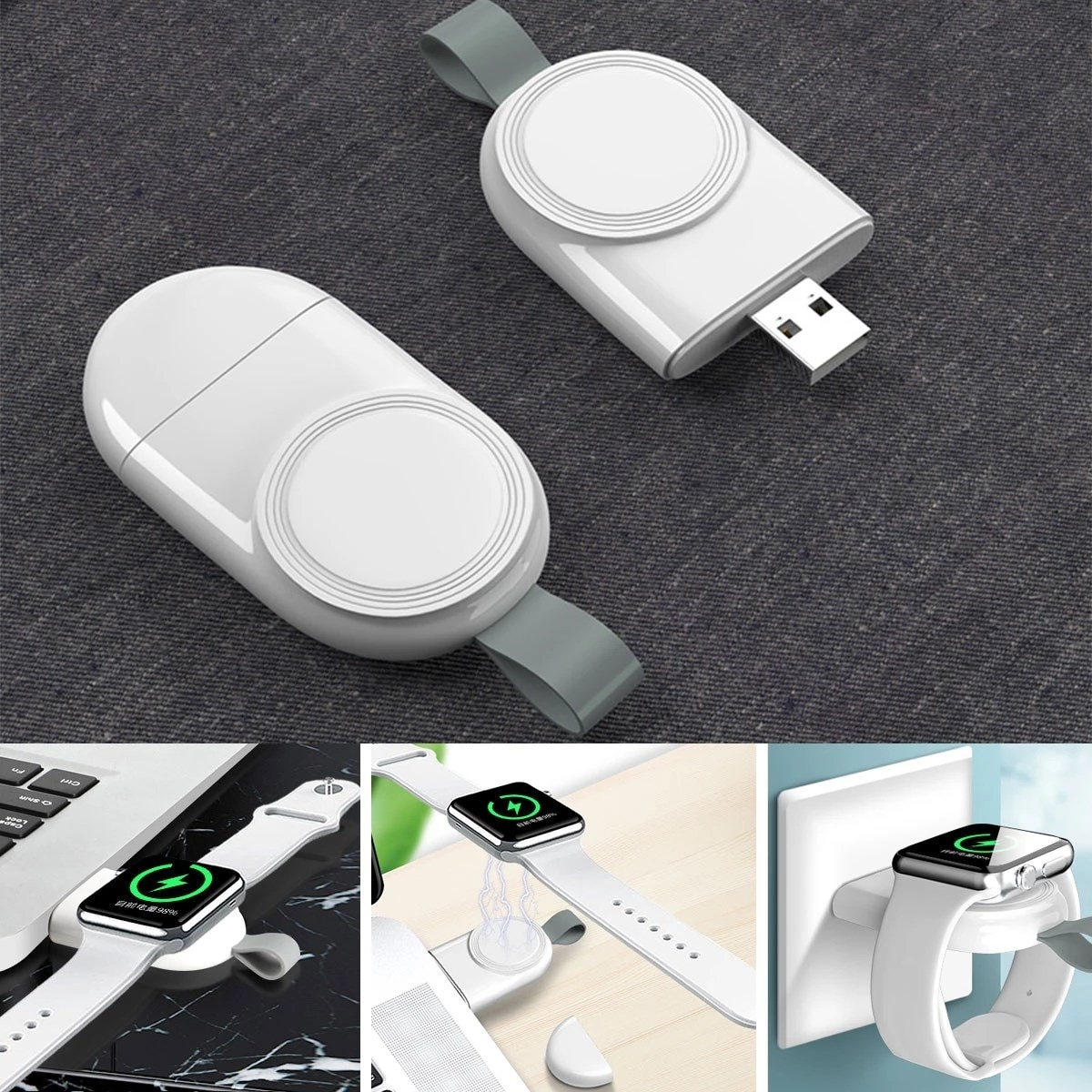 Portable Wireless Charger for IWatch 6 SE 5 4 Charging Dock Station USB Charger Cable for Apple Watc