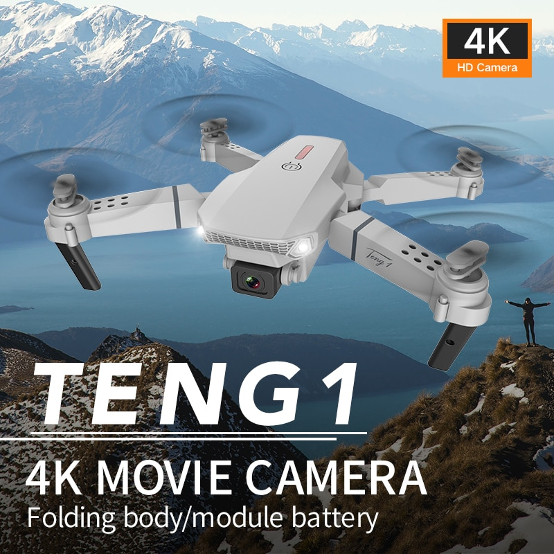 New E88 Profession Folding Drone with Aerial HD 4K Dual Camera Four-axis Aircraft Remote Control Helicopter Toy For Kids