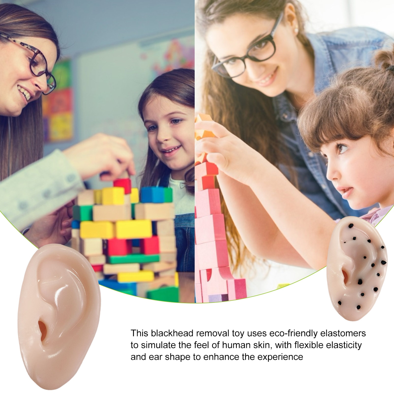 Stress Relief Toys Funny Ear Blackhead Removal Pop The Pimple Squeeze Anti Stress Relief Prank Toys Special Toys For Kids Adults enlarge