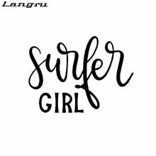 Langru 15CM*11CM Fashion Surfer Girl Characters Vinyl Car Sticker Decal Car Accessories Jdm