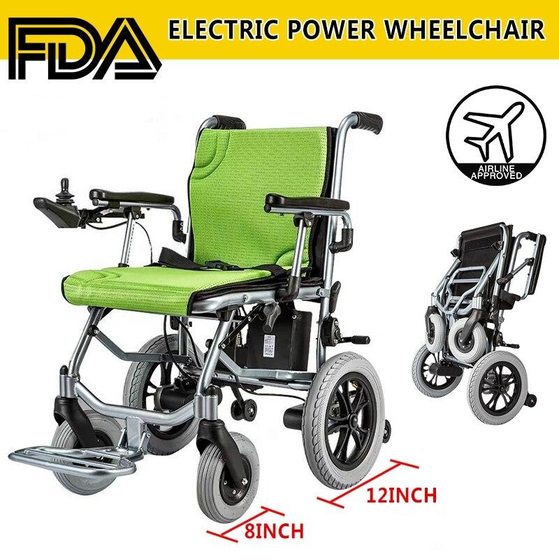 Silla de ruedas eléctrica portátil, plegable, ligera, para el cuidado de la salud, accesorios de Interior, carrito de equipaje plegable