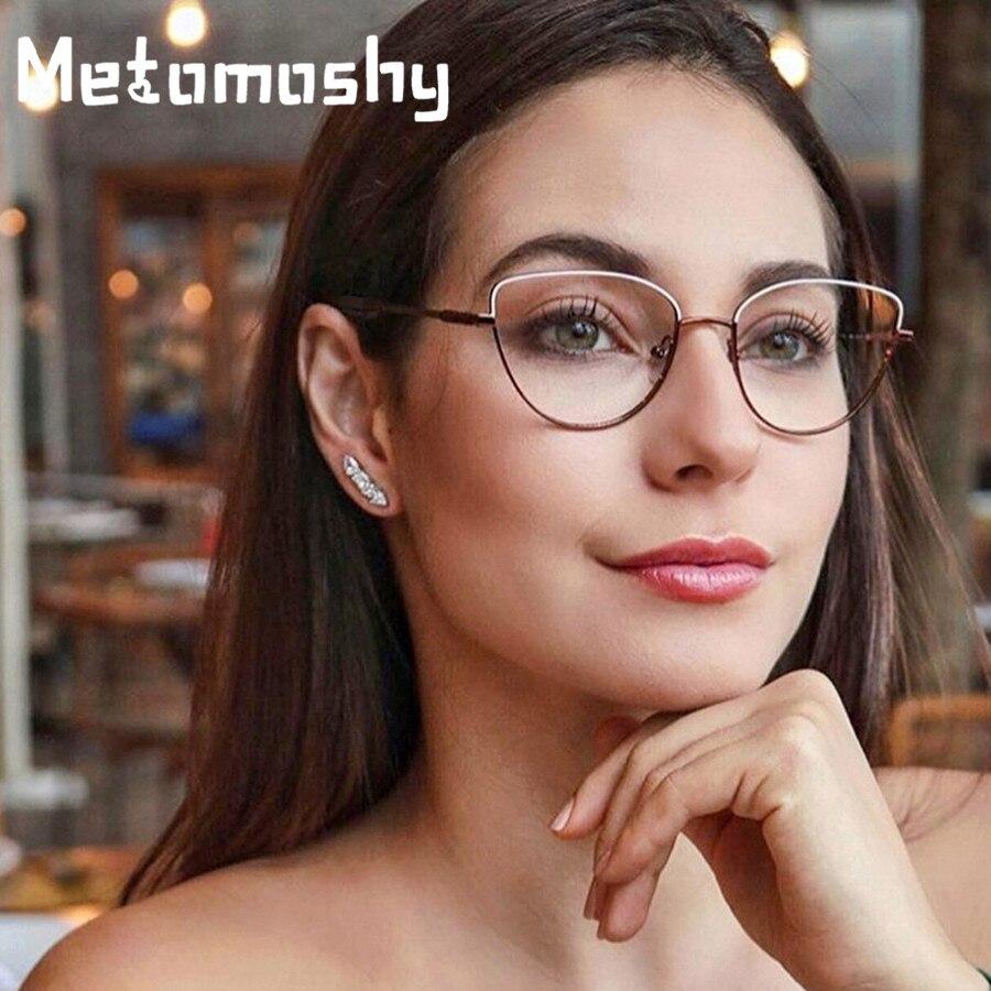 2019 olho de gato do vintage simples óculos quadros para homens moda óptica óculos de computador lentes claras óculos transparentes