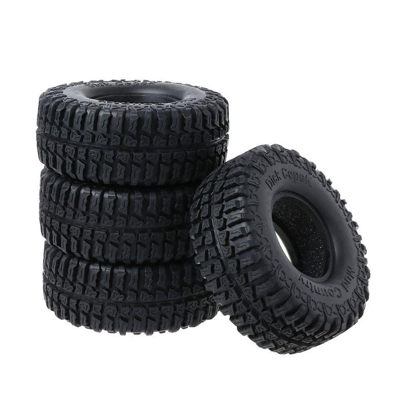 4 Uds 100MM Rock neumáticos Crawler 1,9 pulgadas neumático para 1/10 RC4WD D90 D110 AXIAL SCX10 TRX-4