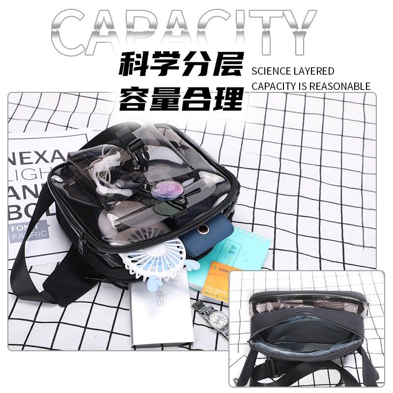 New Fashion PVC Shoulder Bag Transparent Women Crossbody Bags Male Messenger Bag Daily Phone Bags Wa
