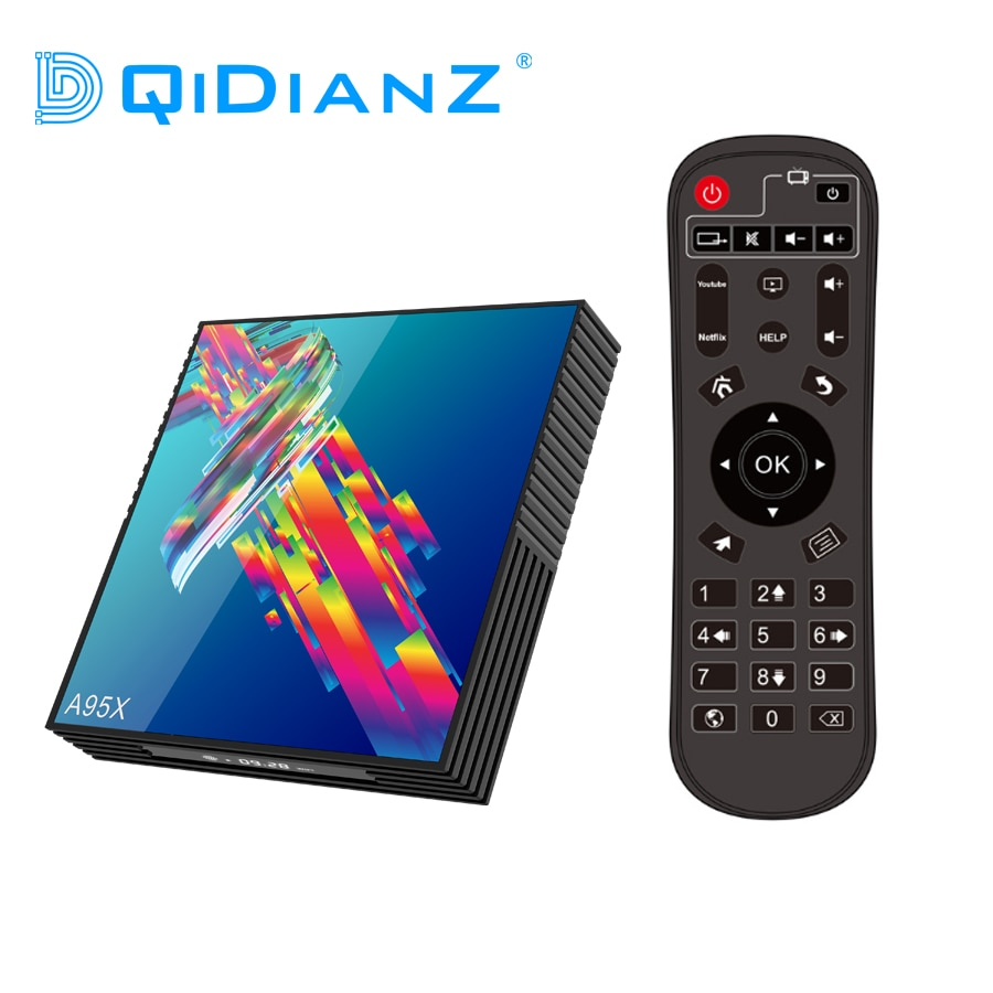A95X R3 Set Top Box reproductor de medios Android 9,0 caja de TV 2,4G 5G Wifi RK3318 Quad Core con Bluetooth PK X96MINI HK1MAX mini H96 Gyro