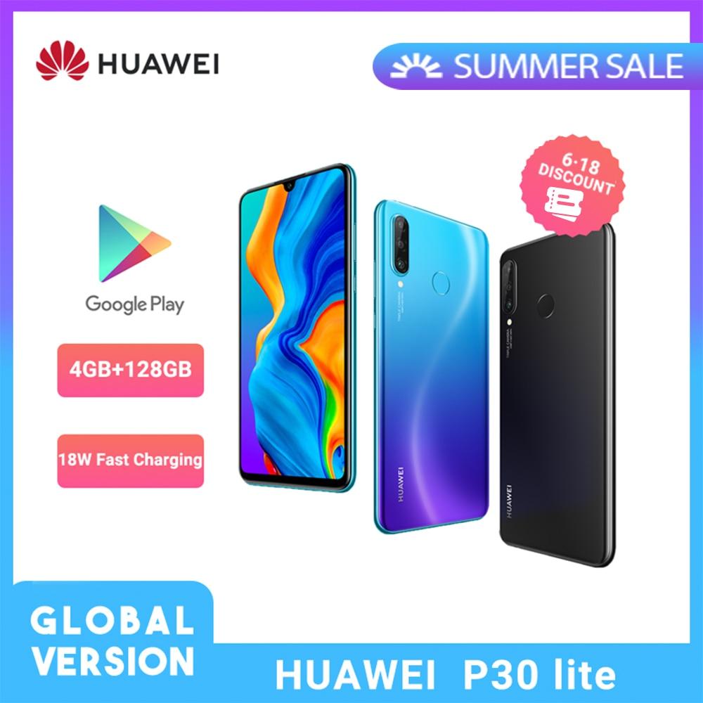 Глобальная версия Huawei P30 Lite смартфон 6,15 дюймов Kirin 710 Восьмиядерный мобильный телефон NFC Тройная камера Android 9,0 мобильный телефон