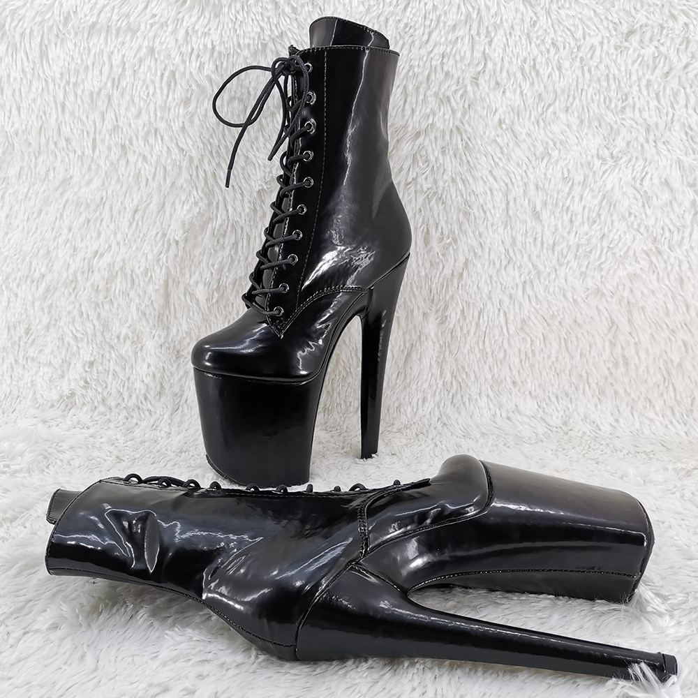 Leecabe 20CM/8Inch hot fashion  ankle boots  High Heels Pole Dance boot
