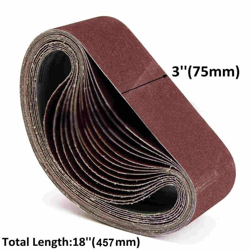 10Pcs 75x457mm Schleifen Gürtel P40 - P1000 Schleif Schleifen Bildschirm Band für Holz Weiche Metall Schleifen polieren Schleif Gürtel
