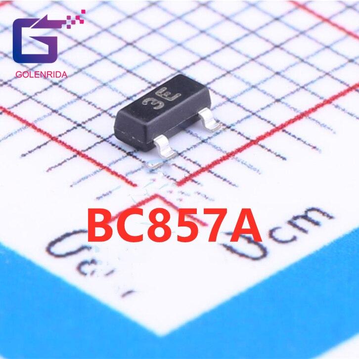 100 pçs/lote BC857 BC857A 3E SOT-23