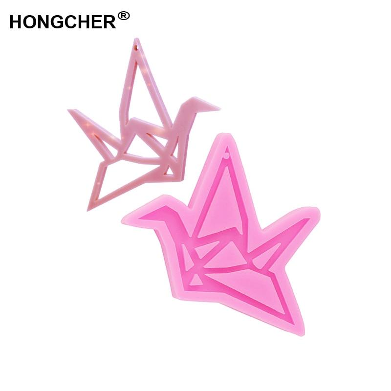 AliExpress - New Shiny Origami crane epoxy resin silicone mold Valentine's Day gift Origami crane model keychain earring jewelry making mold