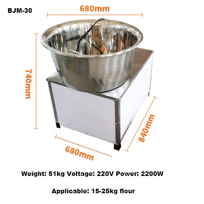 Mezclador de masa de pan comercial de jamielín soporte eléctrico de cocina planetario máquina de amasar masa batidora de huevos