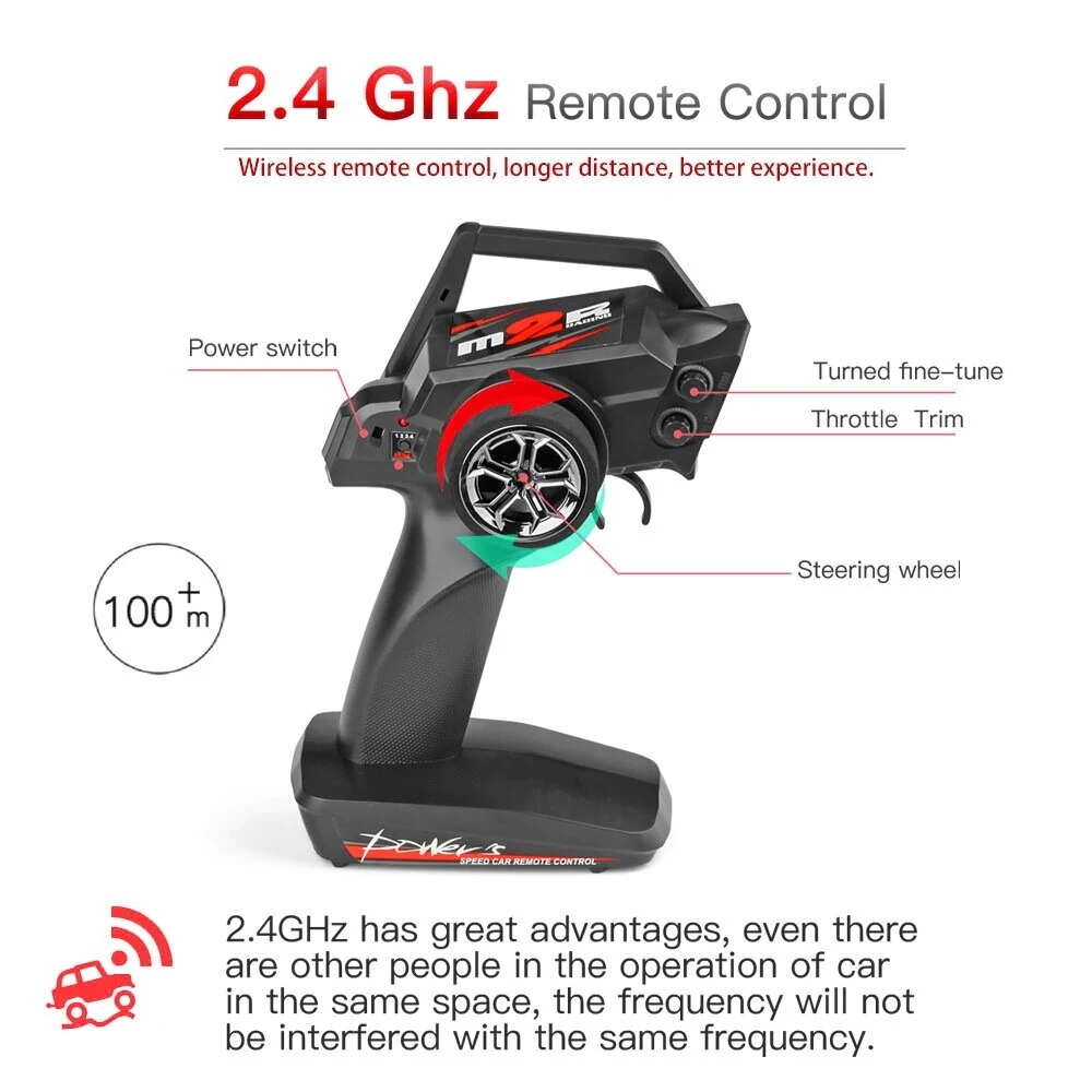 Professional 2.4G Racing RC Car Radio Competition 60 Km/h Metal Chassis 4WD Electric RC Formula Car Remote Control Toy Kids Gift enlarge