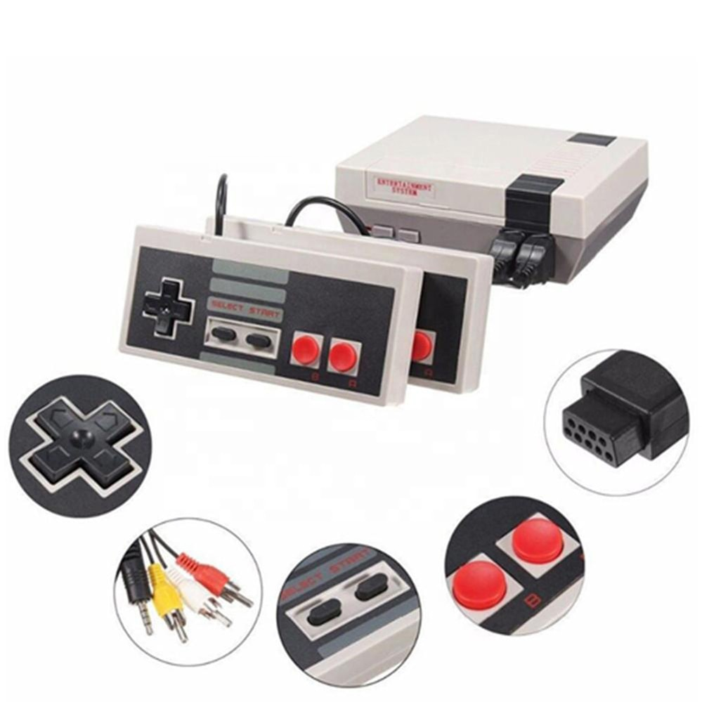 620 IN 1 Games Mini TV Game Console 8 Bit Retro Classic Handheld Gaming Player TV AV Video Game Console TWO Players for kids