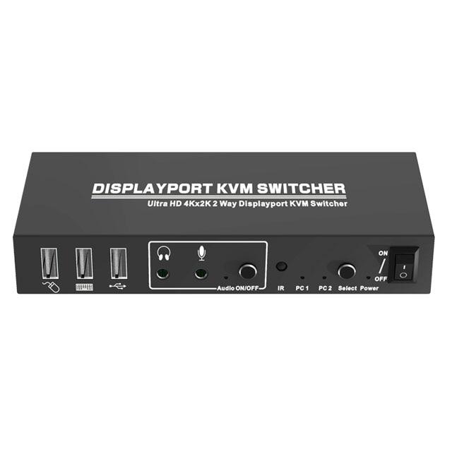 2-Port DisplayPort تبديل KVM