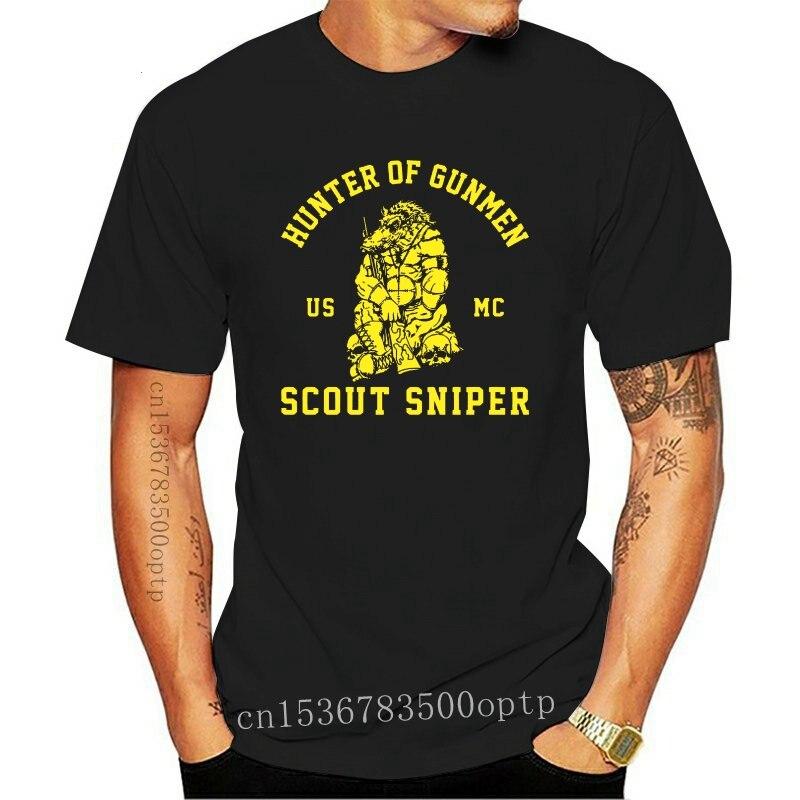 New 2021 Fashion Hot 2021 HUNTER OF GUNMEN SCOUT SNIPER USMC T SHIRT SIZE S-4XL Tee shirt