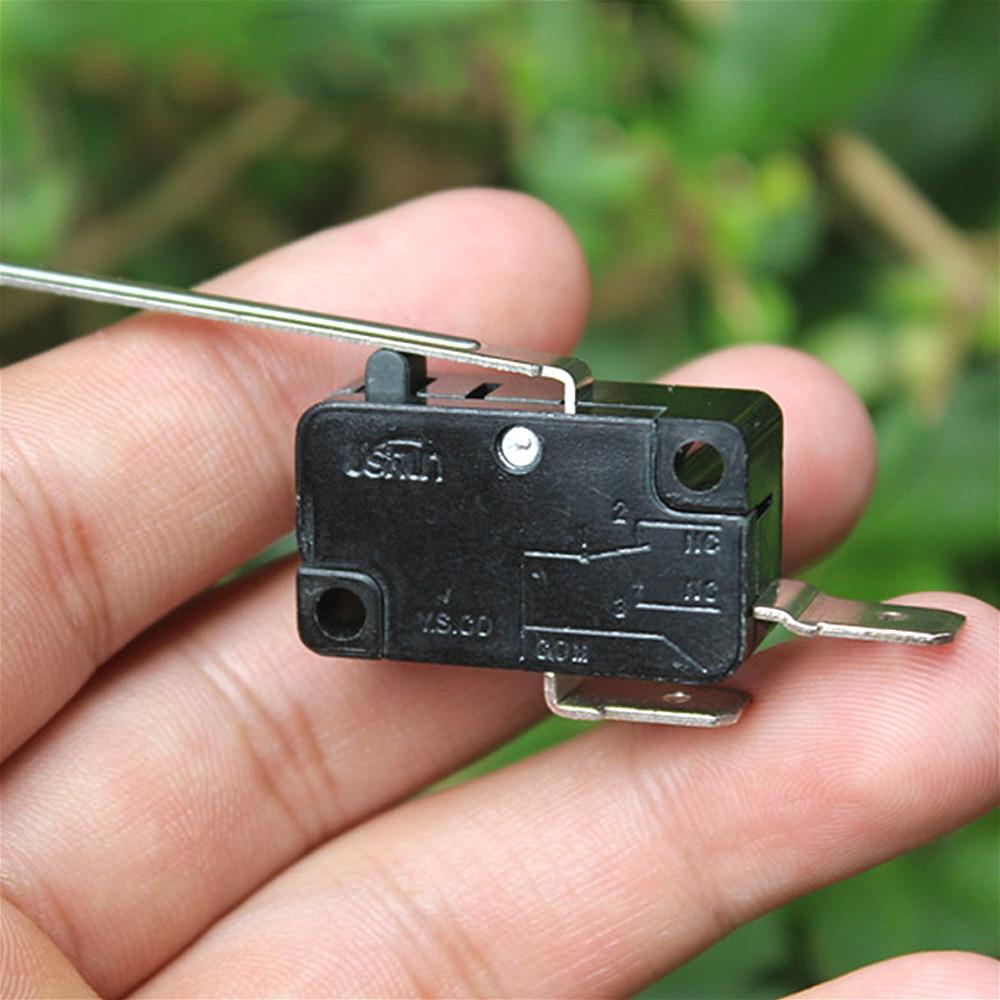 Microcommutateurs normalement ouverts 16A AC125V 250V Mini Micro fin de course N/O 2 broches bornes de carte PCB Action de levier pousser le contrôle automatique