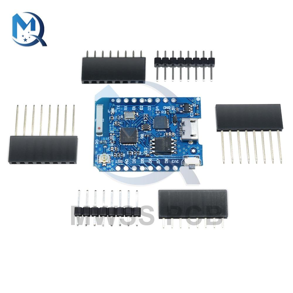 Wemos D1 Mini Pro ESP8266 CP2104 WIFI Bluetooth Development Board Support External Antenna Connector For Arduino