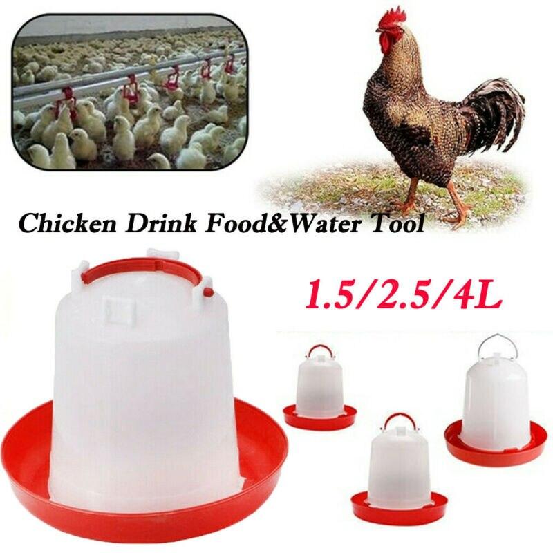Новые куриные кормушки поилки птицы цыпленок курица Бантам еда аксессуары для воды инструмент