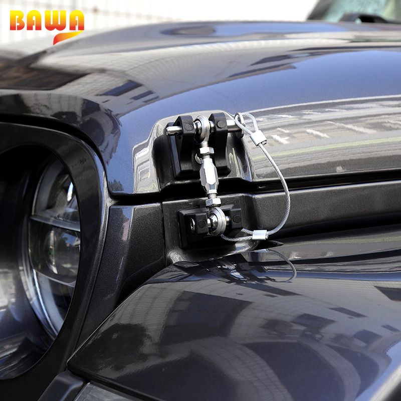 BAWA Aluminum alloy Car Exterior Lock Hood Latch Catch Locks Hood for Jeep Wrangler JL 2018+  Exterior Accessories enlarge