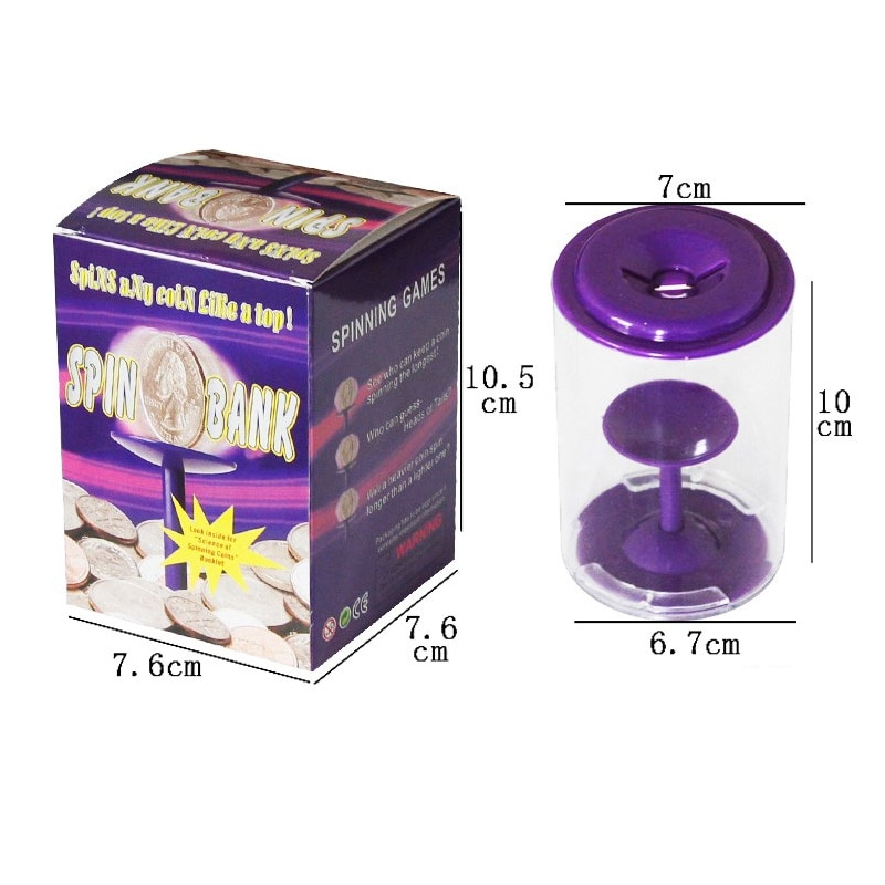 Creative vortex piggy bank gravity rotation coin savings bucket whirlwind bank pass time to relieve stress gifts for children enlarge