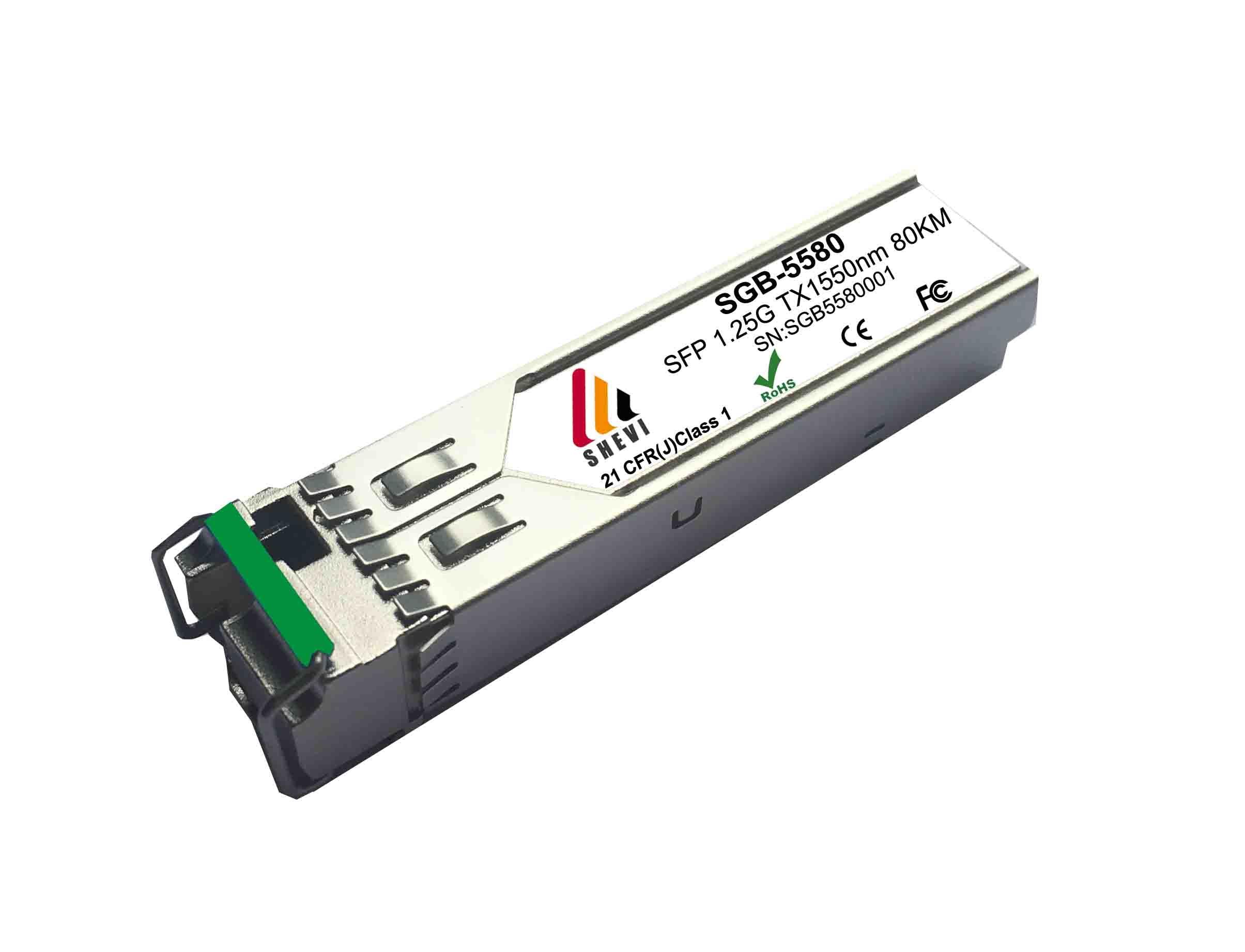 1.25G Ethernet SFP جهاز إرسال واستقبال 1550/1490nm 80 كجم BIDI 1.25g sfp BIDI huawei جهاز إرسال واستقبال H3C Moxa