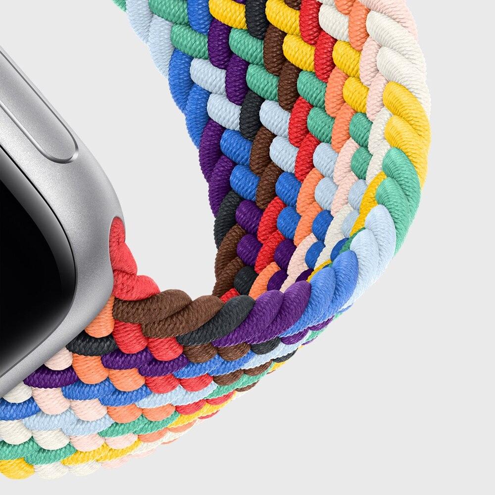 AliExpress - Braided Solo Loop For Apple Watch Band 44mm 40mm 38mm 42mm Fabric Nylon Elastic Belt Bracelet iWatch Series 3 4 5 Se 6 Strap