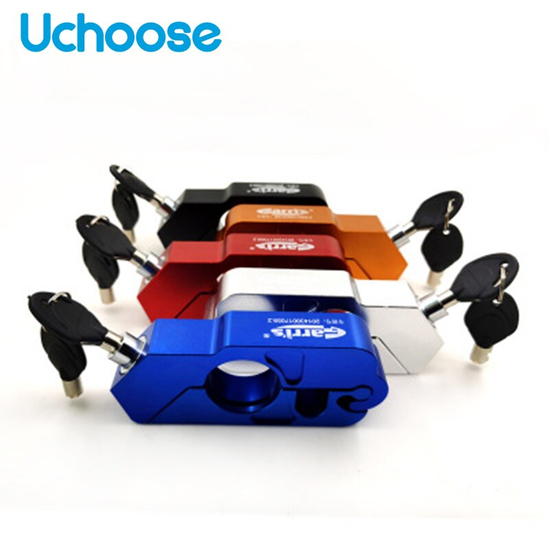universal motorcycle lock scooter handlebar safety lock brake throttle grip anti theft protection security locks high quality Handlebar Throttle Lock Motorcycle Security Safety Grip Locks Brake Lever Disc Locking Fit Scooter ATV Anti-theftExplosion-proof