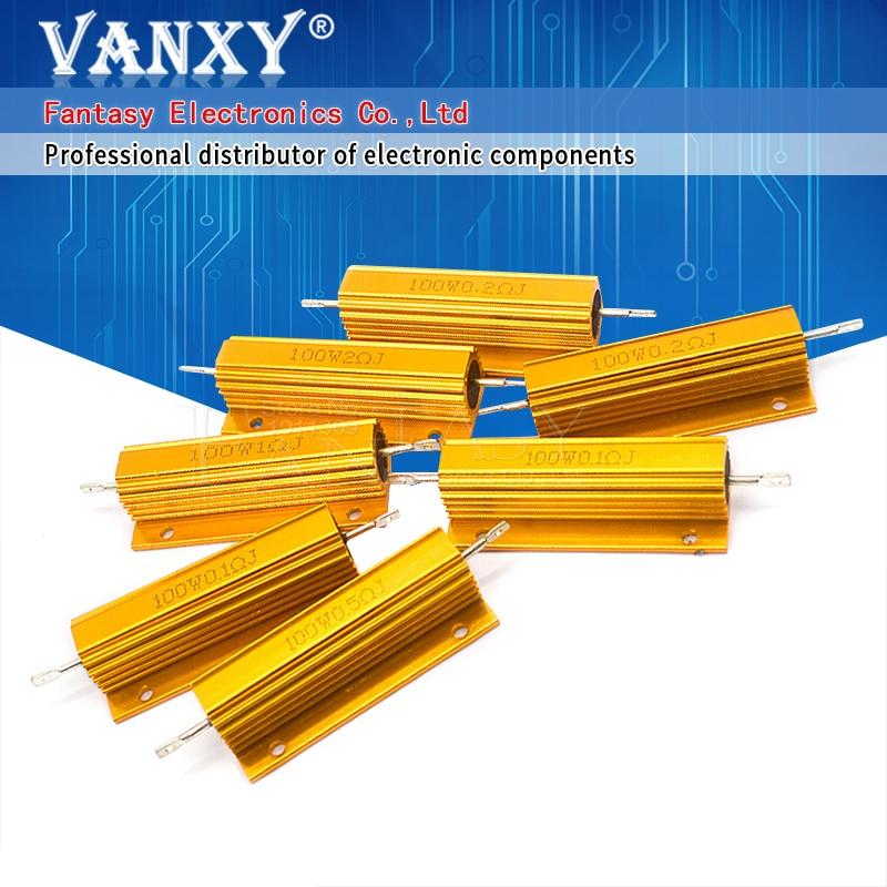 Резистор с проволочной обмоткой 100 ~ 0,01 ком, с алюминиевым силовым металлическим корпусом, 100 0,1 1 2 4 6 8 10 0,5 100 150 200 1 кОм 10 кОм, 1 шт.
