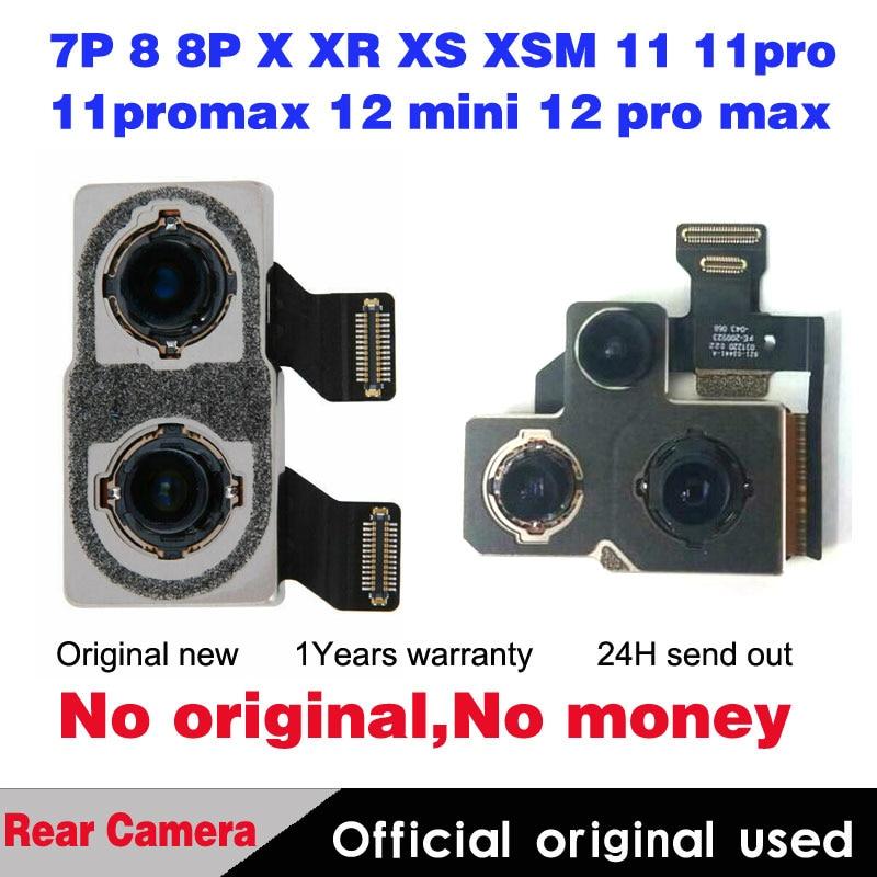 Get 5pcs Original Rear Camera For iPhone 7 8 plus SE2 X XR XS max 11 pro max 12mini 12 pro Back Main Camera Flex Cable Replacement
