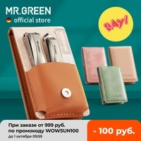 mr green manicure set surgical grade scissors stainless nail clippers tool pedicure set home portable travel kit nail scissor