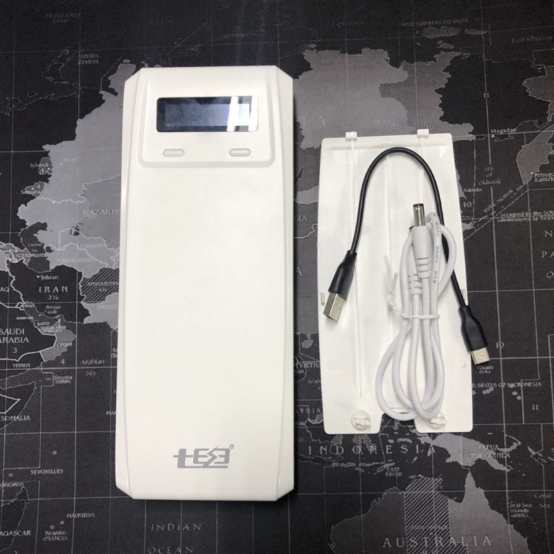 (Sin batería) QD188-PD Dual USB QC 3,0 + tipo C de salida DC 8x18650 baterías de bricolaje de energía Banco Caja de funda, soporte cargador rápido