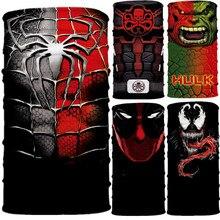 Super-héros Peter Parker Bruce bannière Barry Allen HYDRA Cosplay masque visage cou écharpe masques Bandana bandeau cagoule Halloween