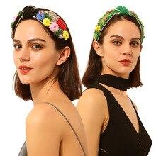 Bandeau de cheveux fleur abeille pour femmes   Bandeau de cheveux rétro Baroque, bandeau diadème cristal strass palais couronne bohémien, bijoux